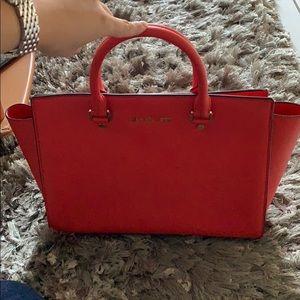 Michael Kors Selma saffiano leather handbag